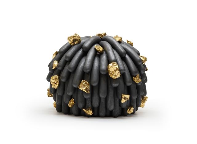 , 'Asphalt Dust Furry with Gold Rocks,' 2017, Mindy Solomon Gallery