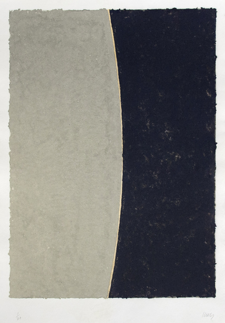 , 'Colored Paper Image VIII (Gray Curve with Blue),' 1976, Mary Ryan Gallery, Inc
