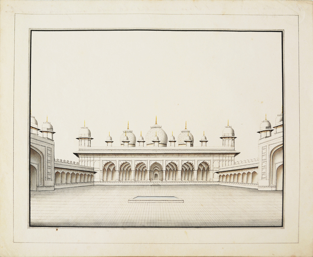 , 'Architectural Drawings - Motee Musjid,' , Swaraj Art Archive