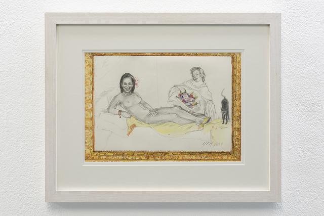 , 'Olympia Model Role (Obama – Monroe),' 2010, ADN Galeria (Barcelona)
