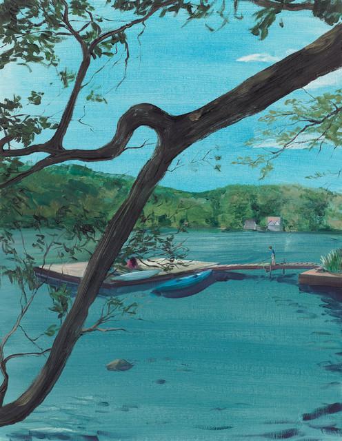 , 'Dock Through the Trees,' 2016, Tayloe Piggott Gallery