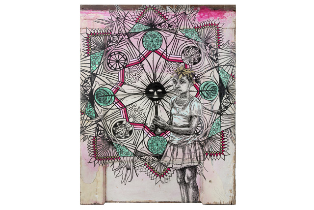 Swoon, 'Edline 04', 2018, Mixed Media, Silkscreen laid on wood, heightened with acrylic, Chiswick Auctions