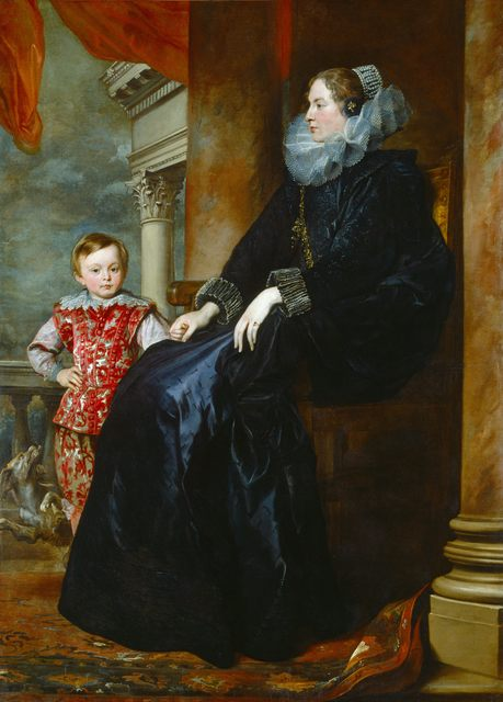 , 'A Genoese Noblewoman and Her Son,' c. 1626, Royal Academy of Arts