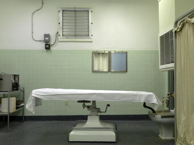 , 'Autopsy Table, Naval Base Mortuary, Guantanamo,' 2009, Hosfelt Gallery