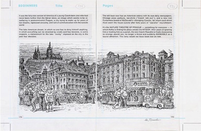 Robert Crumb pages from 'Kafka' (double page)