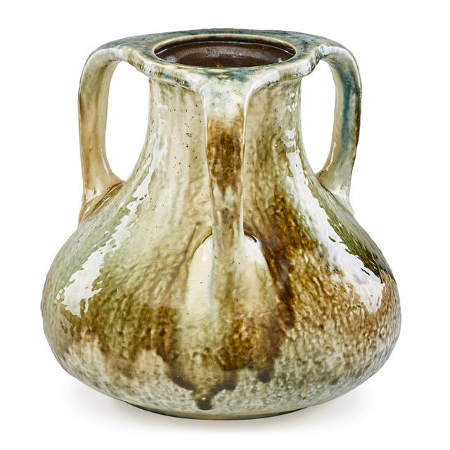 Tiffany Studios, 'Large Three-Handled Favrile Pottery Vase, New York, NY', 1910s-20s, Rago/Wright