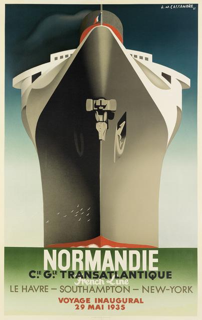 Adolphe Mouron Cassandre, 'NORMANDIE', 1998, Swann Auction Galleries