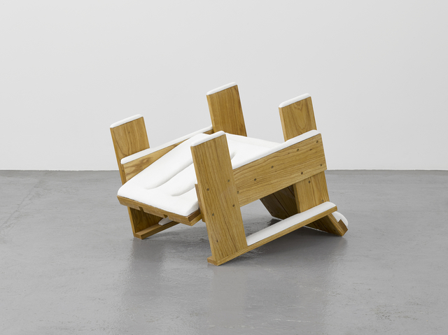 , 'Overturned Rietveld chair after a snow flurry,' 2017, Lisson Gallery