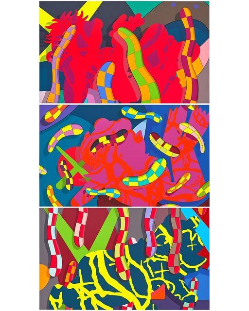 KAWS, 'Lost Time, Alone Again & Far Far Down', 2018, Upsilon Gallery