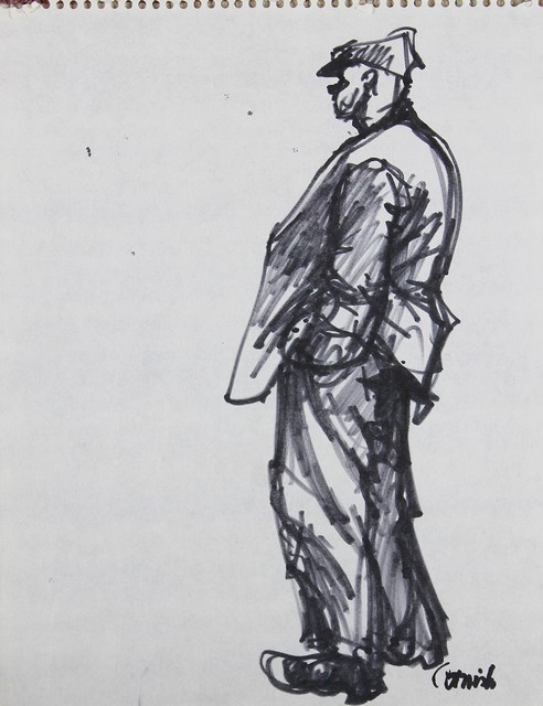 , 'Man stood,' , Castlegate House Gallery