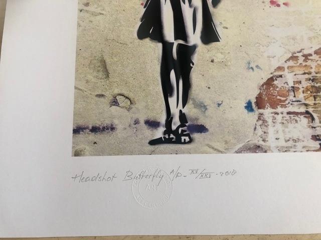 After Banksy, 'Headshot Butterfly', 2018, Print, Giclee, Leviton Fine Art