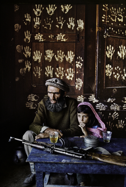 , 'FATHER AND DAUGHTER AT HOME IN NURISTAN, 1992,' 1992, Beetles + Huxley