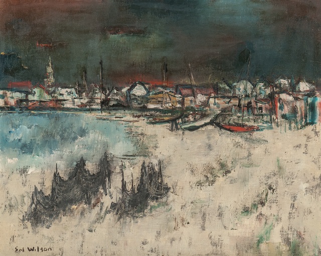 Sol Wilson, 'Beach with Nets', Painting, Oil on canvas, Skinner