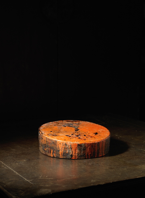 , 'A solid keyaki wood (type of Elm) circular lacquering block,' Japan: 20th century, Rasti Chinese Art