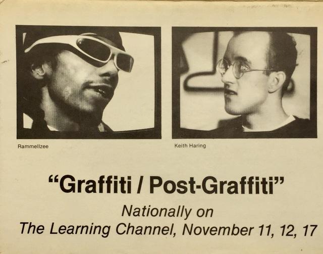 Keith Haring, 'Basquiat, Keith Haring 1980s graffiti announcement (Graffiti/Post Graffiti) ', 1984, Lot 180