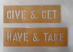 , 'Give & Get, Have & Take,' 2005, Mai 36 Galerie