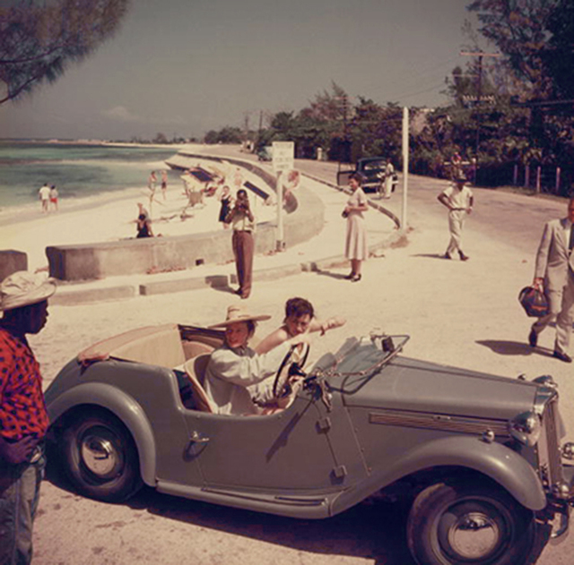 , 'Katharine Hepburn, 1953: Driving along the waterfront with Irene Mayer Selznik at Montego Bay, Jamaica,' 1953, Staley-Wise Gallery