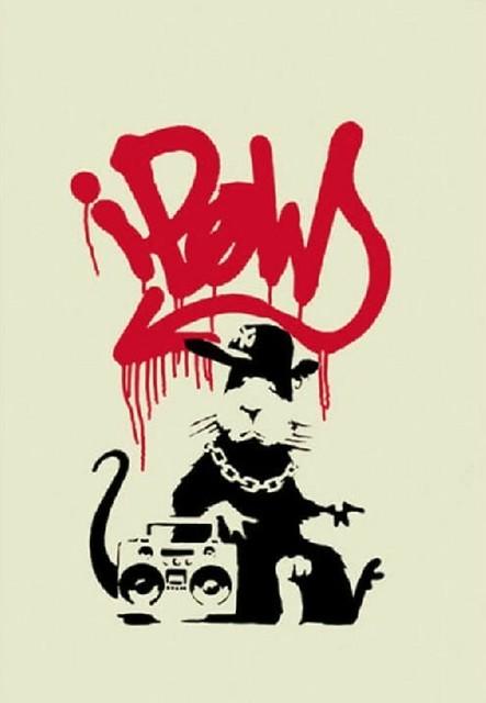 Banksy, 'Gangsta Rat- Unsigned', 2004, Robin Rile Fine Art