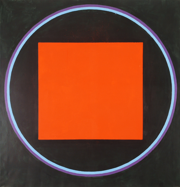 , 'Magic Circle I (Inside Red Square), II (Large Red Square),' 1989, Walter Wickiser Gallery