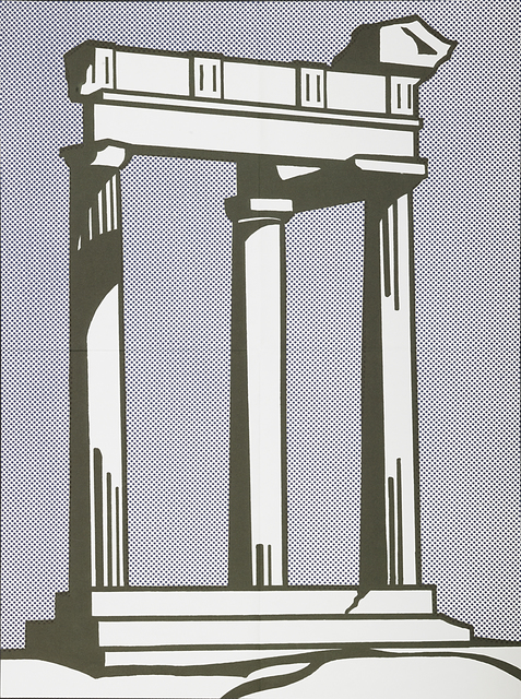 Roy Lichtenstein, 'Temple', 1964, Print, Offset lithograph in colors (mailer), Rago/Wright