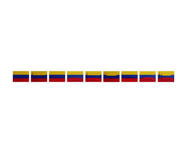 Juan José Olavarría, '3 banderas (9 piezas)', 2016, Herlitzka + Faria