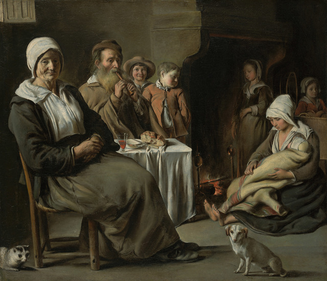 , 'Peasant Interior with an Old Flute Player,' 1642, Kimbell Art Museum
