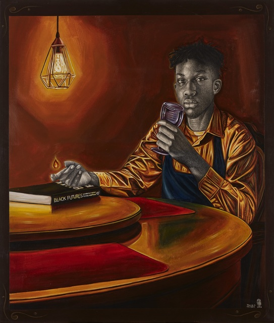 Ikeorah Chisom Chi-Fada, 'Derrah's seat at the table', 2020, Painting, Acrylic, charcoal and metallic gold paint on canvas, CFHILL