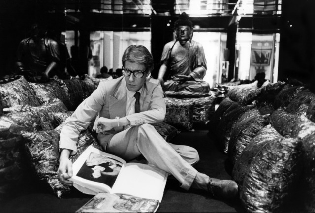 , 'Yves Saint Laurent at home, 55 rue de Babylone, Paris,' 1977, Seattle Art Museum
