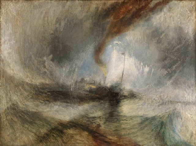 , 'Snow Storm - Steam-Boat off a Harbour's Mouth,' 1842, de Young Museum