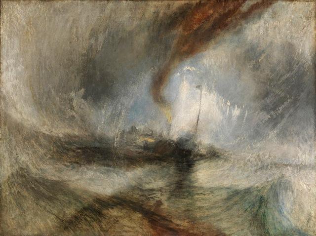 , 'Snow Storm -Steam-Boat off a Harbour's Mouth,' 1842, de Young Museum