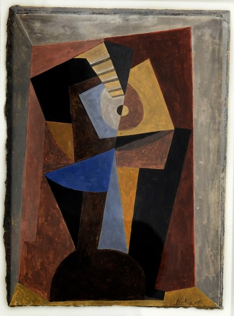 Pablo Picasso, 'Guitare', 1920, Drawing, Collage or other Work on Paper, Gouache on paper, David Benrimon Fine Art