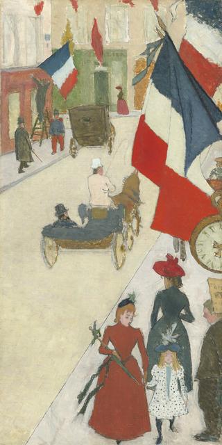 , 'Paris, Rue de Parme on Bastille Day,' 1890, Seattle Art Museum