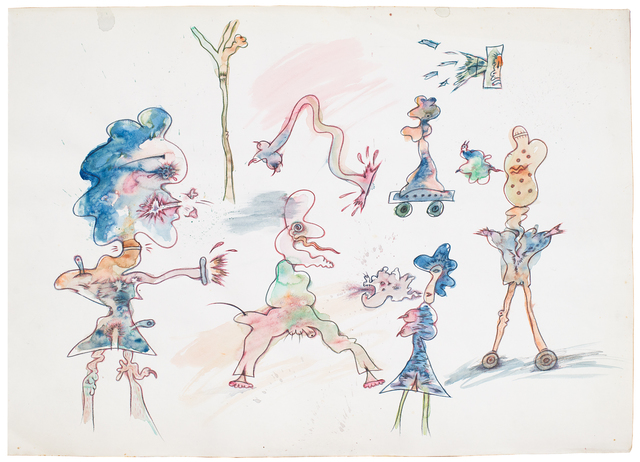 , 'Untitled (Blue Character Sketch),' 1972, Hales Gallery