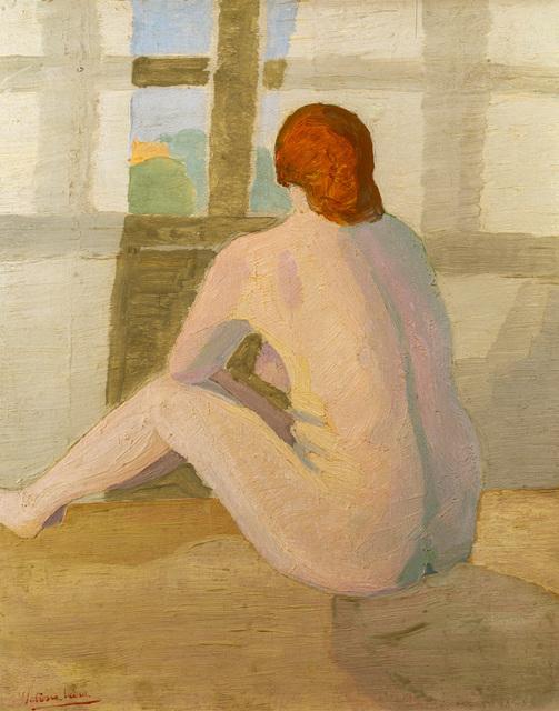 """Petrona Viera, '""""Desnudo de espaldas""""', ca. 1920, Tazart"""