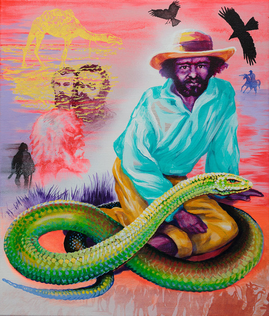 , 'Life Support, Portraits of Watpipa and Dick, Aboriginal Guides to the Burke and Wills Expedition,' 2015, Galerie pompom