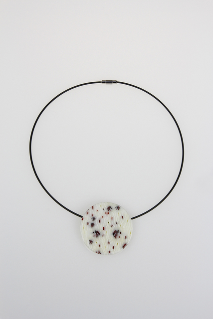 , 'Red Dots and Slashes Circle Pendant,' , Bullseye Projects