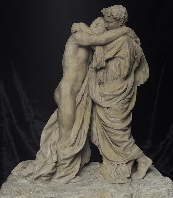 Giacomo Barbieri, ' Virgil and Sordello', 1907, Sculpture, Medium, Accademia Nazionale di San Luca