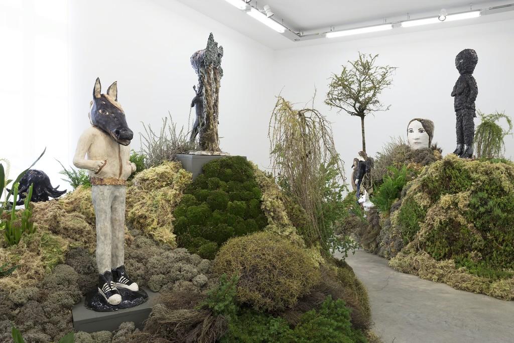 "View of the exhibition ""Camouflage"" at Perrotin, Paris © Kristalova / ADAGP Paris, 2017 Photo: Claire Dorn / Courtesy Perrotin"