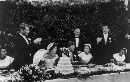 , 'The wedding of John F. Kennedy and Jacqueline Bouvier, Newport, Rhode Island,' 1942, Staley-Wise Gallery