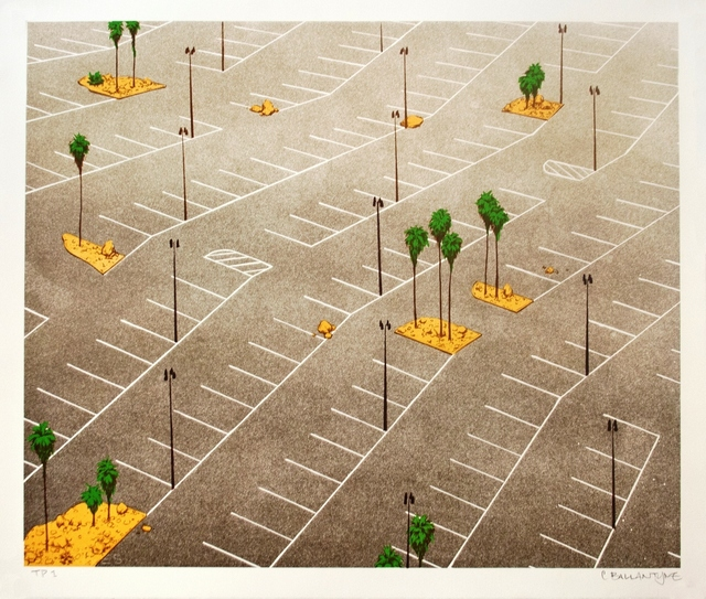 , 'Parking Lot with Palm Trees,' 2013, Tamarind Institute