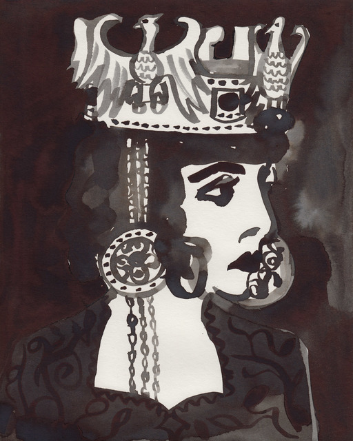 , 'Luisa Casati as Empress Theodora (After an unknown photograph),' 2016, Less is More Projects