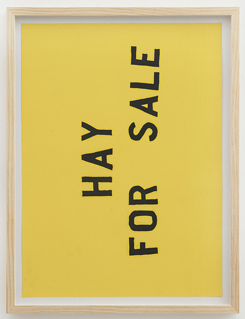 ", 'Hay for Sale ""Leroy"",' 2017, Johannes Vogt Gallery"