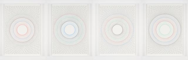 , 'Straight circles 1, 2, 3, 4 (quadruple),' 2015, Nogueras Blanchard