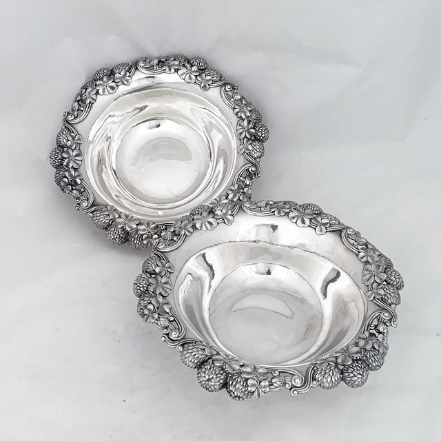 Tiffany of New York, 'Pair of sterling silver serving dishes with the clover motif ', 102-1906, Other, Sterling silver, Esmé Parish Silver