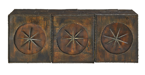Early wall-mounting sculptural cabinet, New Hope, PA