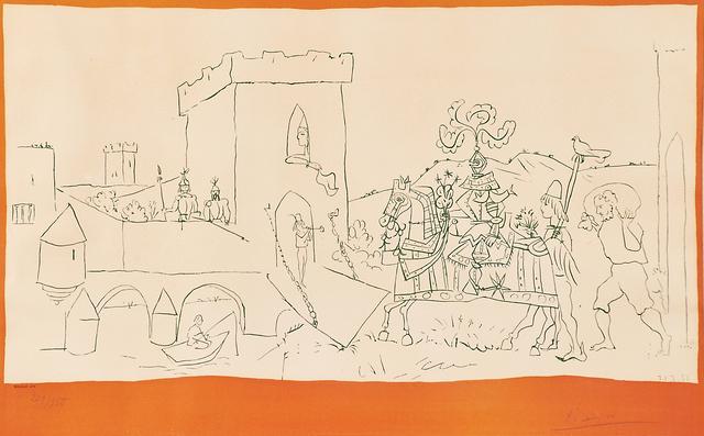 after Pablo Picasso, 'L'Arrive du Chevalier', 1951, Rago