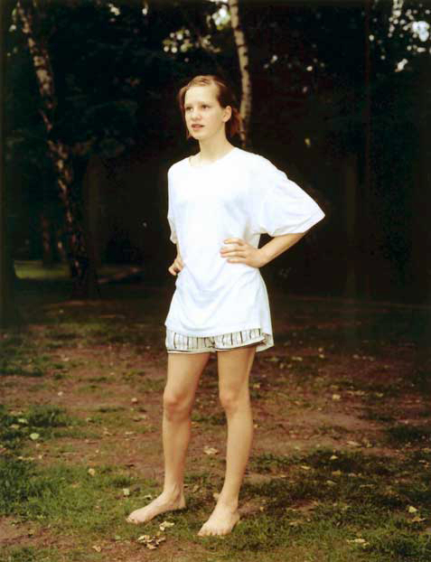 Rineke Dijkstra, 'Tiergarten, Berlin, Germany, June 7, 1998 D (Girl in White Shirt)', 1998, Marian Goodman Gallery