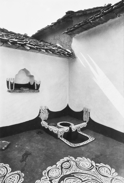 , 'An open-air kitchen stove or choola in a courtyard of a village house, Rajasthan,' 1981, Tasveer