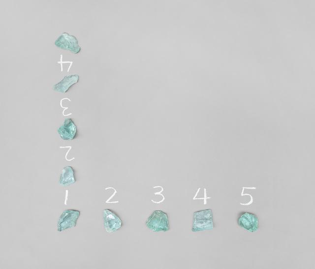 Mel Bochner, '5 Stones / 4 Spaces (Hinge)', 1972/2012, Simon Lee Gallery