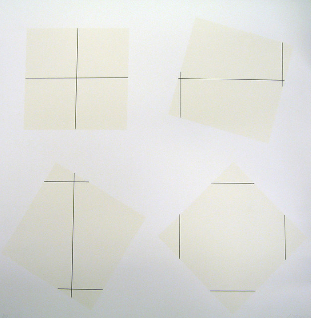 , 'Untitled Grid 0°, 90° on four squares positioned at 0°, 15°, 30°, 45°,,' 1977, Zane Bennett Contemporary Art